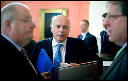 Iain Duncan Smith attends The first Cabinet meeting inside the Cabinet room in No10, Thursday May 13, 2010. Photo By Andrew Parsons/i-Images