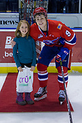 KELOWNA, CANADA - JANUARY 10:  Third Star of the Game Zach Fischer #9 of the Spokane Chiefs at the Kelowna Rockets game on January 10, 2018 at Prospera Place in Kelowna, British Columbia, Canada.  (Photo By Cindy Rogers/Nyasa Photography,  *** Local Caption ***