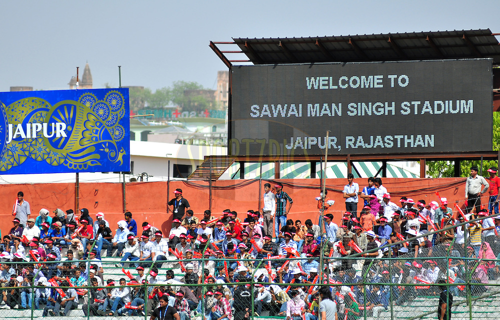 Crowd during match 20 of the the Indian Premier League ( IPL) 2012  between The Rajasthan Royals and the Deccan Chargers held at the Sawai Mansingh Stadium in Jaipur on the 17th April 2012..Photo by Arjun Panwar/IPL/SPORTZPICS
