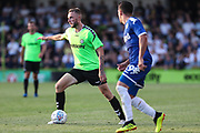 Forest Green Rovers Carl Winchester(7) on the ball during the Pre-Season Friendly match between Forest Green Rovers and Leeds United at the New Lawn, Forest Green, United Kingdom on 17 July 2018. Picture by Shane Healey.
