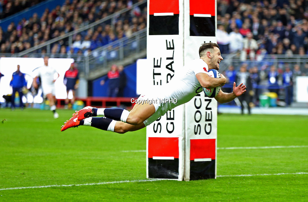 RBS 6 Nations Championship Round 5, Stade de France, Paris, France 19/3/2016<br /> France vs England<br /> Danny Care of England scores their first try<br /> Mandatory Credit &copy;INPHO/Andrew Fosker