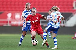 Lauren Hemp of Bristol City Women battles for the ball with Harriet Scott of Reading Women - Mandatory by-line: Gary Day/JMP - 22/04/2017 - FOOTBALL - Ashton Gate - Bristol, England - Bristol City Women v Reading Women - FA Women's Super League 1 Spring Series