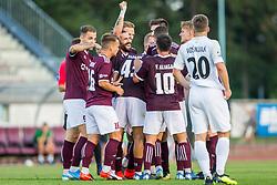 NK Triglav Kranj players celebrate during Football match between NK Triglav Kranj and NK Rudar Velenje in Round #3 of Prva liga Telekom Slovenije 2019/20, on July 27, 2019 in Sports park Kranj, Kranj, Slovenia. Photo by Ziga Zupan / Sportida