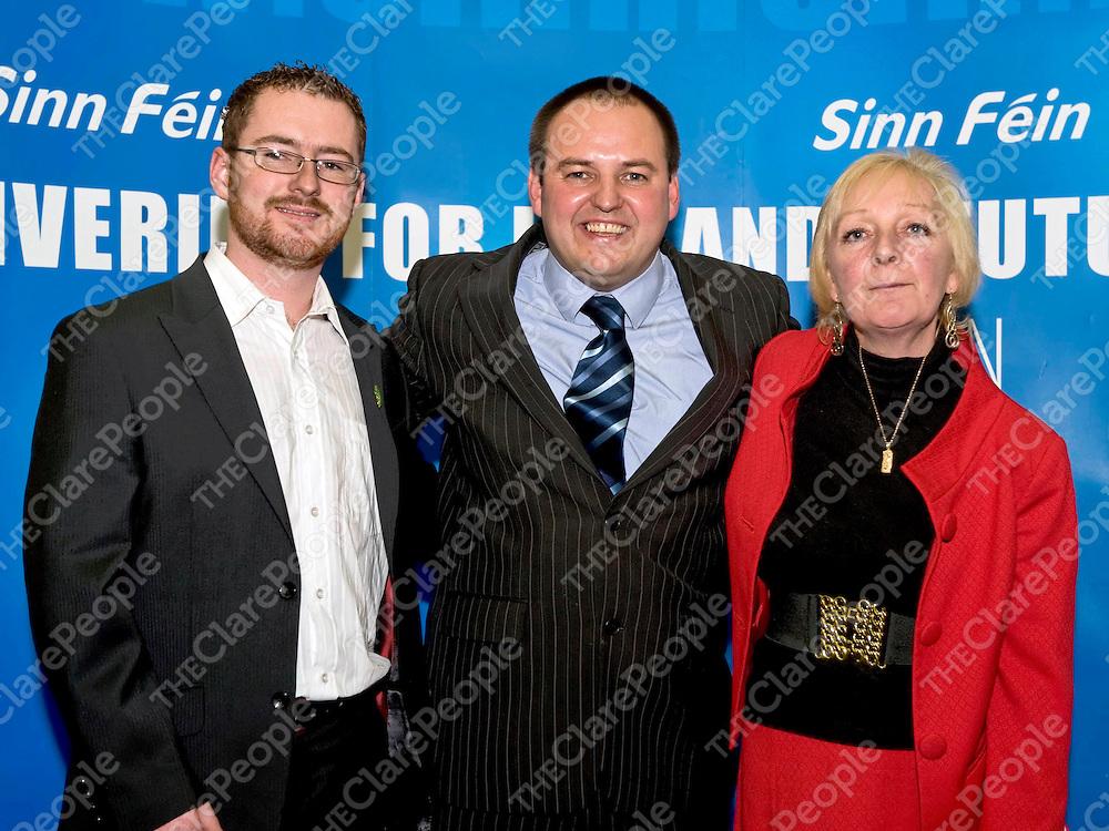 Sinn Féin European election candidate Padraig McLoughlin with Clare Sinn Féin representatives, Sean Hayes and Cathy McCafferty