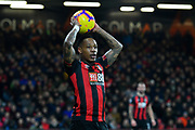 Nathaniel Clyne (23) of AFC Bournemouth takes a throw during the Premier League match between Bournemouth and Chelsea at the Vitality Stadium, Bournemouth, England on 30 January 2019.