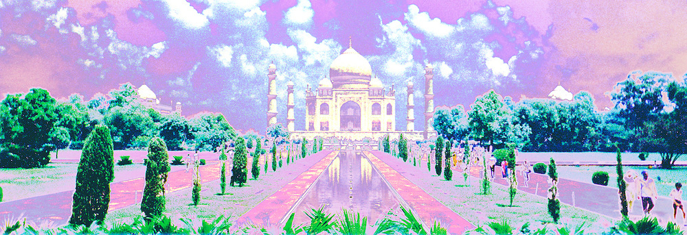 The Dream.  A fantasy version of a photo taken at the Taj Mahal in Agra, India.  © Laurel Smith
