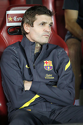 25.05.2012, Vicente Calderon Stadion, Madrid, ESP, Kings Cup Finale, FC Barcelona vs Athletic Bilbao, im Bild Barcelona's Tito Vilanova // during the Spanish Kings Cup final match between Fc Barcelona and Athletic Bilbao at the Vicente Calderon Stadium, Madrid, Spain on 2012/05/25. EXPA Pictures © 2012, PhotoCredit: EXPA/ Alterphotos/ Alvaro Hernandez..***** ATTENTION - OUT OF ESP and SUI *****