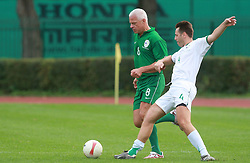 Drago Kos and Uros Ahcan at friendly football game between famous Slovenians at day of Fair play, on September 21, 2008 in Kodeljevo, Ljubljana, Slovenia. (Photo by Vid Ponikvar / Sportal Images)