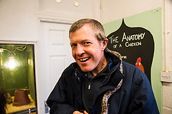 Pictured: Willie Rennie got up close and personal with Dougal the corn snake. <br /> Scottish Liberal Democrat leader Willie Rennie called for a boost to vocational training opportunities when he met volunteers, Leah Muirhead and Graham Mathieson, at Gorgie City Farm in Edinburgh. After touring the farm, which provides volunteering and training opportunities for at-risk young people and adults with additional support needs, Mr Rennie set out Lib Dem plans to increase opportunities for industry-recognised vocational qualifications.  <br /> Ger Harley | EEm 8 April 2016