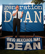 Albuquerque, NM, USA, 09.04.2003: The first of six Presidential Debates held among the Democrate canditades for President 2004. The debate was held at the Popejoy audtiorium at the New Mexico University in Albuquerque.<br /> <br /> Howard Dean at a rally prior to the Presidential Debate.<br /> <br /> Photo: Orjan F. Ellingvag/Aftenposten/Corbis