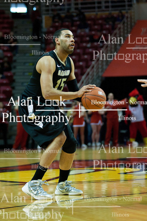 18 February 2012:  Drew Valentine during an ESPN Bracketbuster mens basketball game Where the Oakland Golden Grizzlies lost to the Illinois State Redbirds 79-75 in Redbird Arena, Normal IL