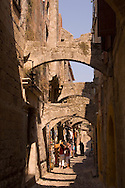 Medieval arches in Rhodes Town, Rhods, Dodecanese Islands,  Greece