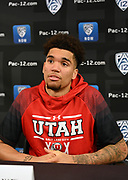 Utah's Timmy Allen during Pac-12 Basketball Media Day, Tuesday, Oct. 8, 2019, in San Francisco, Calif. (Dylan Stewart/Image of Sport)
