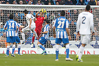 06.01.2013 SPAIN -  La Liga 12/13 Matchday 18th  match played between Real Madrid CF vs  Real Sociedad (4-3) at Santiago Bernabeu stadium. The picture show Claudio Andres Bravo Munoz (Goalkeeper Real Sociedad)