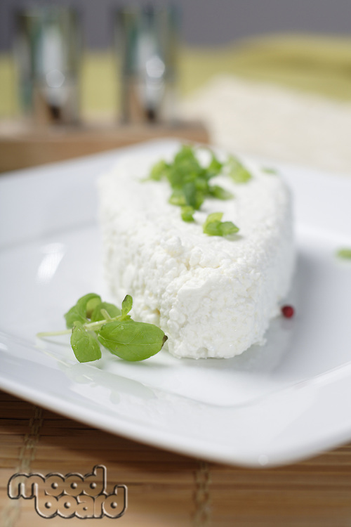 White Polish cheese onplate