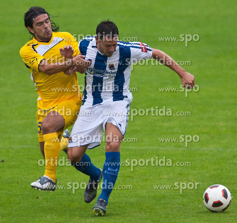 05.08.2010, Dolomitenstadion, Lienz, AUT, Friendly Match, Real Sociedad vs AEL Limassol, im Bild Alberto De La Bella Madueño ( Real Sociedad, #24 ). EXPA Pictures © 2010, PhotoCredit: EXPA/ J. Groder / SPORTIDA PHOTO AGENCY