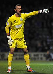 Yeovil Town's Artur Krysiak - Photo mandatory by-line: Harry Trump/JMP - Mobile: 07966 386802 - 11/08/15 - SPORT - FOOTBALL - Capital One Cup - First Round - Yeovil Town v QPR - Huish Park, Yeovil, England.