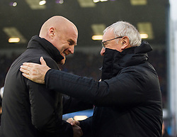 Burnley manager Sean Dyche (L) and Fulham manager Claudio Ranieri shake hands before the match - Mandatory by-line: Jack Phillips/JMP - 12/01/2019 - FOOTBALL - Turf Moor - Burnley, England - Burnley v Fulham - English Premier League