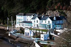 The Portmeirion Hotel in Portmeirion village, designed and built by Sir Clough Williams-Ellis, Gwynedd, Wales, UK