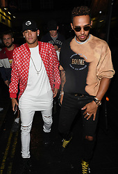 Lewis Hamilton and Neymar Jr seen leaving Cirque Nightclub in London together following an evening out. 18 Sep 2017 Pictured: Lewis Hamilton, Neymar Jr. Photo credit: MEGA TheMegaAgency.com +1 888 505 6342