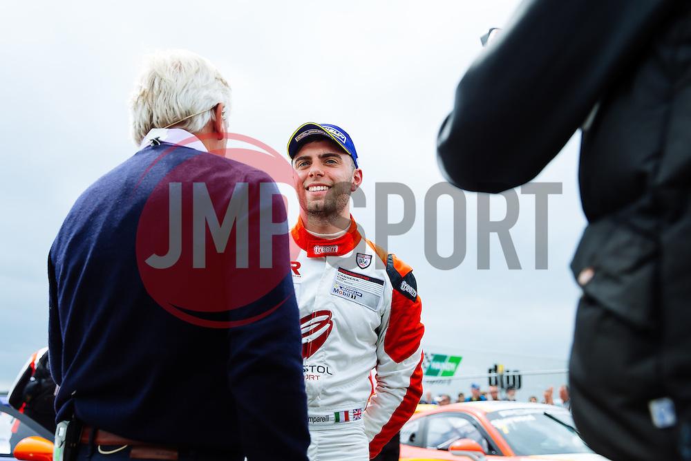 Dino Zamparelli wins Race 1 with the Fastest Lap | GT Marques | #88 Porsche 911 GT3 Cup | Porsche Carrera Cup GB | Race 1 - Mandatory byline: Rogan Thomson/JMP - 19/06/2016 - MOTORSPORT - Croft Circuit - Dalton-on-Tees, England - BTCC Meeting Day 2.