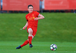 KIRKBY, ENGLAND - Friday, March 31, 2017: Liverpool's captain Liam Coyle in action against West Ham United during an Under-18 FA Premier League Merit Group A match at the Kirkby Academy. (Pic by David Rawcliffe/Propaganda)