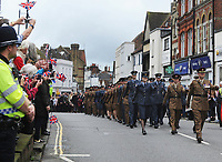 Headley Court Defence Medical Rehabilitation Centre - Farewell Parade, Dorking High Street<br /> <br /> The armed forces, veterans, cadets and other personnel from Headley Court pass through Dorking's High Street<br /> <br /> COLORSPORT/ANDREW COWIE