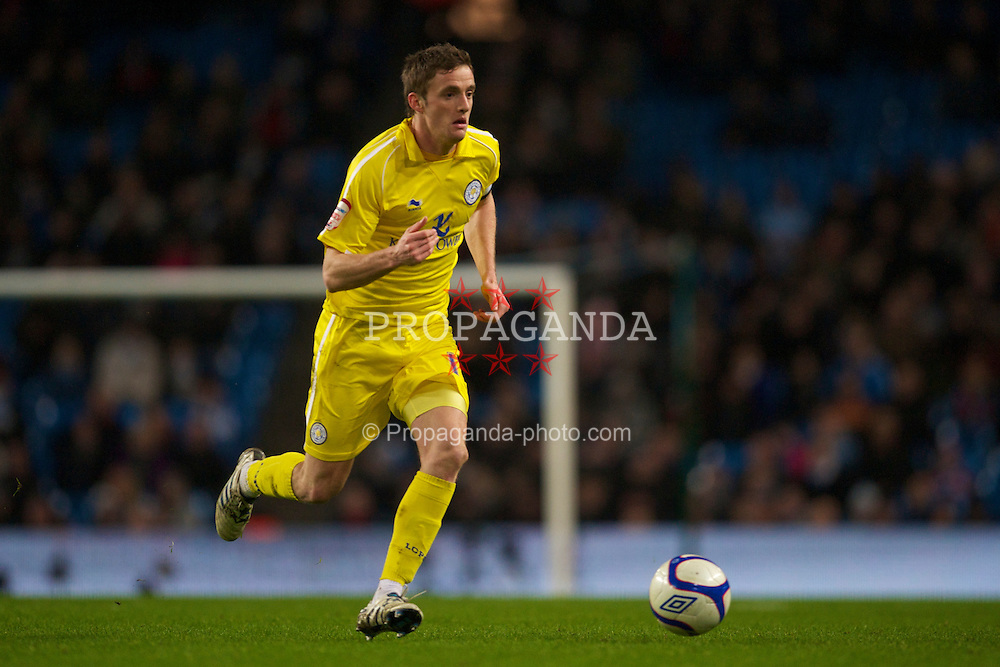 MANCHESTER, ENGLAND - Tuesday, January 18, 2011: Leicester City's captain Andy King in action against Manchester City during the FA Cup 3rd Round Replay match at the City of Manchester Stadium. (Photo by David Rawcliffe/Propaganda)