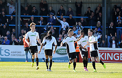 Dover celebrate the equaliser - Photo mandatory by-line: Neil Brookman/JMP - Mobile: 07966 386802 - 18/04/2015 - SPORT - Football - Dover - Crabble Athletic Ground - Dover Athletic v Bristol Rovers - Vanarama Football Conference