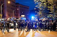 """Roma, 27 Ottobre 2012: .No Monti Day, manifestazione nazionale contro le politiche del  governo Monti..La polizia in Via Castrense..""""No Monti Day"""" protest in Rome against the austerity cuts of the Italian government.."""