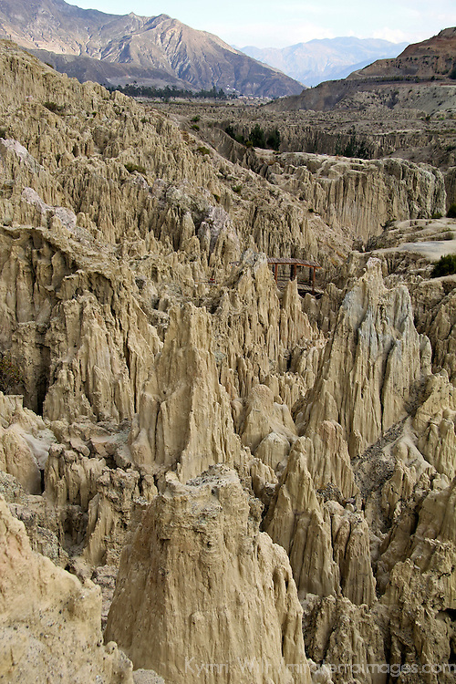 South America, Bolivia, Mallasa. Landscape of the Valley of the Moon near La Paz.