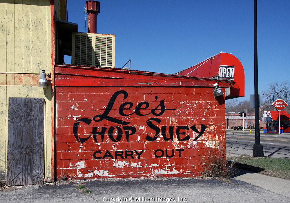 Lee's Chop Suey sits abandoned on Michigan Avenue in Ypsilanti.