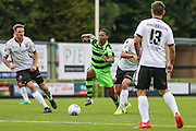Forest Green Rovers Ethan Pinnock (16) runs with the ball during the Vanarama National League match between Forest Green Rovers and Bromley FC at the New Lawn, Forest Green, United Kingdom on 17 September 2016. Photo by Shane Healey.