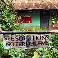 Signage at Konso High School, Konso, Ethiopia