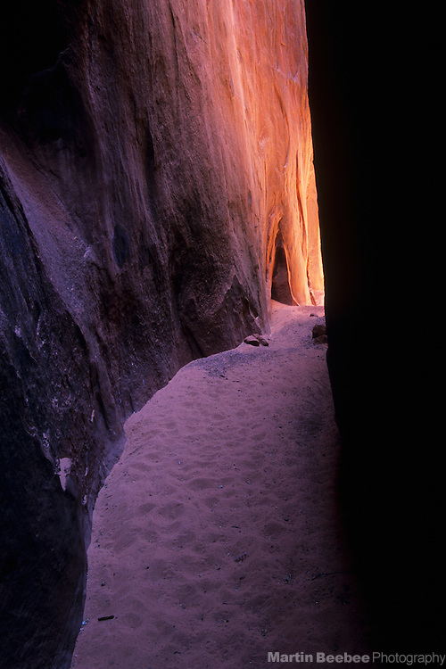 Slot canyon, Coyote Gulch, Grand Staircase-Escalante National Monument, Utah