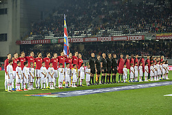 November 20, 2018 - Guimaraes, Portugal - The Polish and Portuguese teams pictured during the UEFA Nations League A Group 3 match between Portugal and Poland at Estadio D. Afonso Henriques in Guimaraes, Portugal on November 20, 2018  (Credit Image: © Andrew Surma/NurPhoto via ZUMA Press)