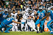 October 17, 2017: Carolina Panthers vs the Philadelphia Eagles. Carson Wentz and  David Mayo