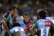 Wycombe, GREAT BRITAIN,   Quins huddle, Paul VOLLEY, during the Guinness Premiership match, London Wasps vs NEC Harlequins, at Adams Park,  Wycombe, ENGLAND, 17/09/2006. [Photo, Peter Spurrier/Intersport-images].