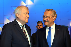 19.01.2019, Kleine Olympiahalle, Muenchen, GER, CSU Parteitag in München, im Bild Horst Seehofer und Joachim Herrmann // during the CSU party congress at the Kleine Olympiahalle in Muenchen, Germany on 2019/01/19. EXPA Pictures © 2019, PhotoCredit: EXPA/ SM<br /> <br /> *****ATTENTION - OUT of GER*****