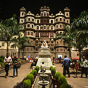 CAPTION: Indore is the most populated city in the centrally located Indian state of Madhya Pradesh, and serves as its commercial centre. LOCATION: Rajwada Palace, Indore, Madhya Pradesh, India. INDIVIDUAL(S) PHOTOGRAPHED: N/A.