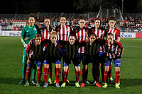 Atletico de Madrid´s initial team players during UEFA Women´s Champions League soccer match between Atletico de Madrid and Olympique Lyonnais, in Madrid, Spain. November 11, 2015. (ALTERPHOTOS/Victor Blanco)