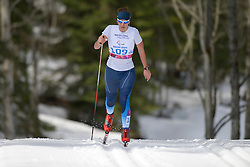 MILENINA Anna competing in the Nordic Skiing XC Long Distance at the 2014 Sochi Winter Paralympic Games, Russia