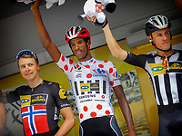 ur-de-Bretagne - France - wielrennen - cycling - radsport - cyclisme -   Edvald Boasson Hagen (Team Mtn Qhubeka) - Daniel Teklehaimanot (Team Mtn Qhubeka) pictured during  le Tour de France 2015 - stage 8 - from Rennes to Mur-de-Bretagne on saturday 11-07-2015 - 181,5 KM<br /> Norway onlyM