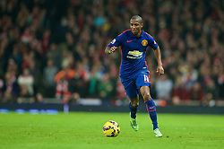LONDON, ENGLAND - Saturday, November 22, 2014: Manchester United's Ashley Young in action against Arsenal during the Premier League match at the Emirates Stadium. (Pic by David Rawcliffe/Propaganda)