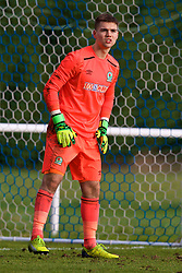 BLACKBURN, ENGLAND - Saturday, January 6, 2018: Blackburn Rovers's goalkeeper Matty Campbell during an Under-18 FA Premier League match between Blackburn Rovers FC and Liverpool FC at Brockhall Village Training Ground. (Pic by David Rawcliffe/Propaganda)