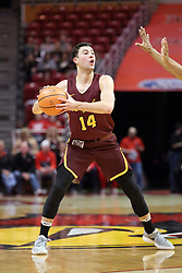 10 January 2018:  Ben Richardson during a College mens basketball game between the Loyola Chicago Ramblers and Illinois State Redbirds in Redbird Arena, Normal IL