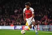 Arsenal Midfielder Alex Iwobi (17) during the Europa League group stage match between Arsenal and Sporting Lisbon at the Emirates Stadium, London, England on 8 November 2018.