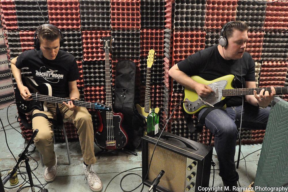 The Dragtones in session at Wild Records studio in Altadena, CA 5/2/2010.