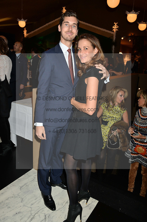 OSCAR GRAF and CAPUCINE MILLIOT at the PAD London 2015 VIP evening held in the PAD Pavilion, Berkeley Square, London on 12th October 2015.