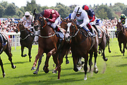 TAMREER (19) ridden by Ben Curtis and trained by Roger Fell winning The Sky Bet Handicap Stakes over 1m 4f (£70,000)  during the Ebor Festival at York Racecourse, York, United Kingdom on 23 August 2019.